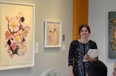 "Anna Kaye, ""Rosa woodsi,"" Watercolor on Paper, 40"" x 33"""