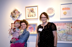 Melissa Furness and Estee Fox in front of their collaboration
